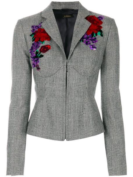 LA PERLA jacket women spandex silk wool grey