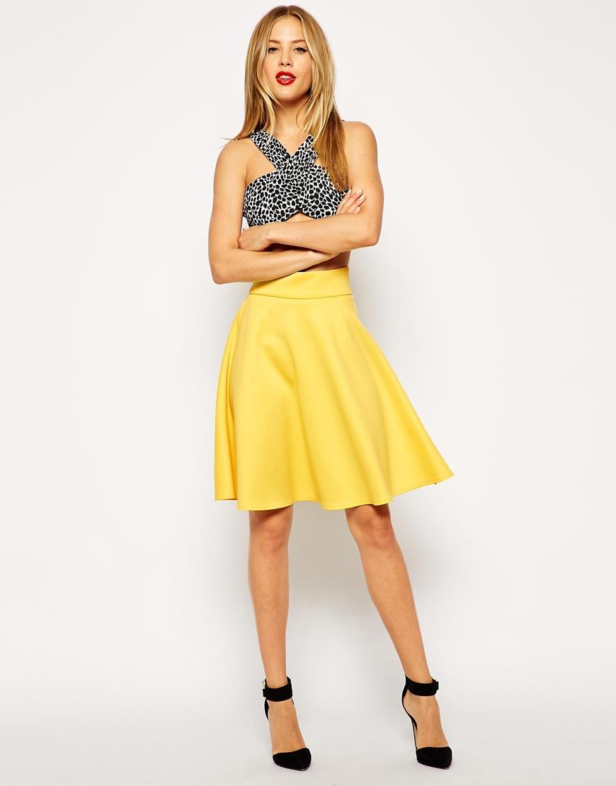 ASOS Knee Length Skirt In Scuba at asos.com