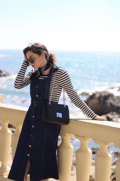 Dress Tumblr Midi Dress Denim Denim Dress Button Up Top