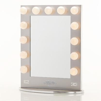 broadway lighted vanity mirror. Black Bedroom Furniture Sets. Home Design Ideas