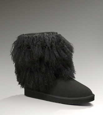 shoes sheepskin black cuff ugg uggs ugg boots short blouse boots black sheepskin fluffy uggs cuff uggs sheepskin