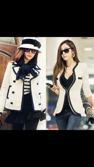black blouse white blouse jacket pretty