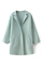 Faux woolen light green coat