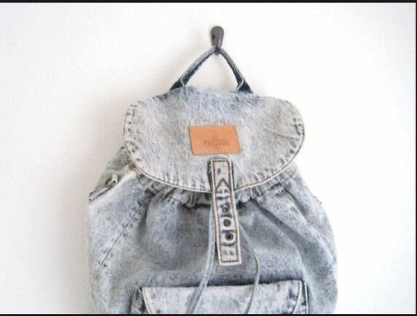 bag backpack vintage grunge denim denim backpack