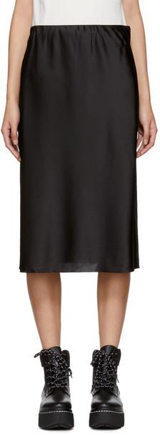 skirt black silk