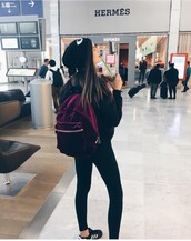 bag,backpack,purple,pink,airport style