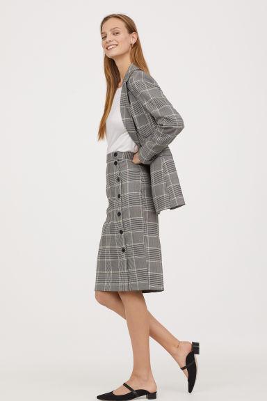 6f005de23e Knee-length skirt - Grey/Checked - Ladies | H&M GB