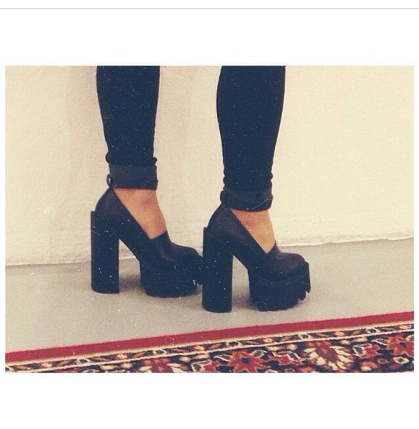 shoes heels black tumblr outfit girly streetwear