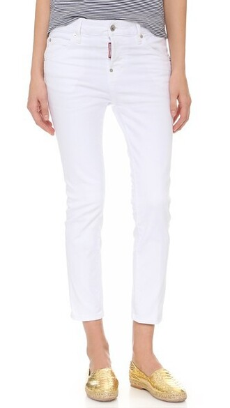 jeans cropped jeans girl cool cropped white