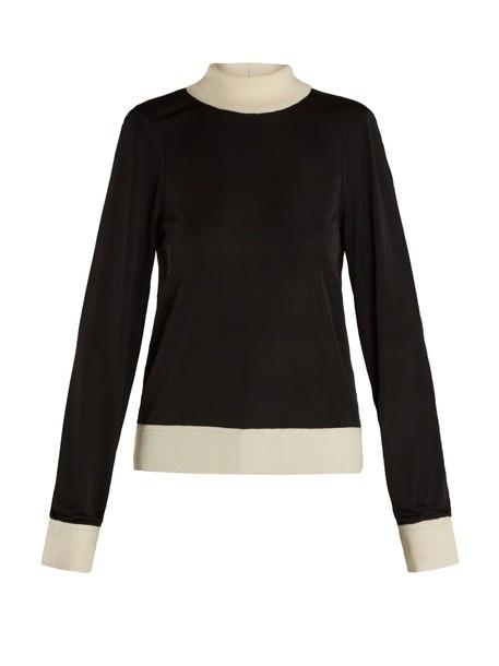 Joseph sweater knit white black