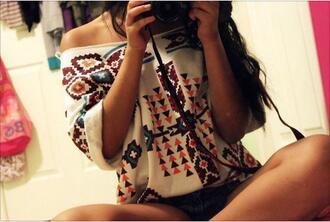 t-shirt aztec