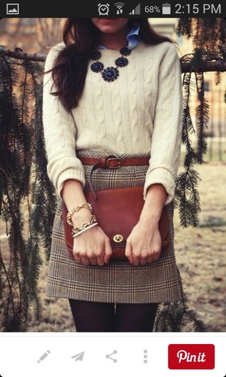 skirt jumper preppy smart classy plaid skirt tartan skirt office outfits