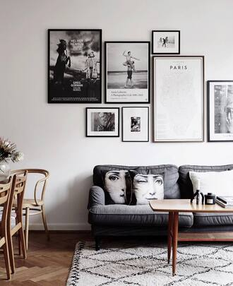 home accessory tumblr home decor home furniture rug table pillow sofa living room frame wall decor black and white