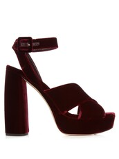 shoes,burgundy,velvet shoes,platform shoes,sandals,miu miu
