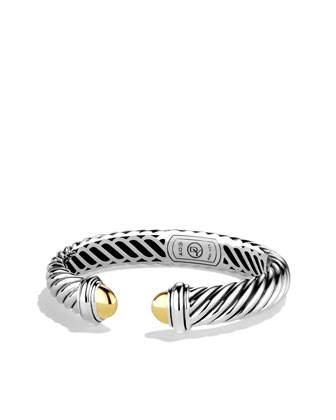 David Yurman Waverly Bracelet with Gold Domes - Neiman Marcus