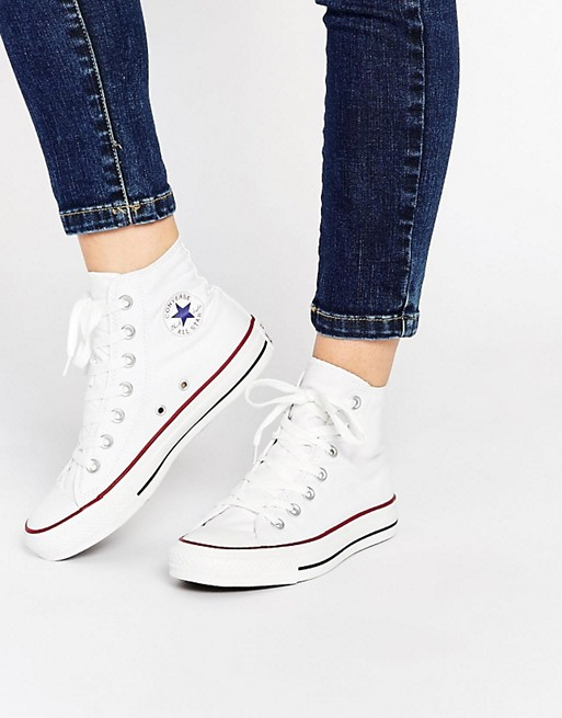 best cheap most popular latest design Converse All Star High Top White Trainers at asos.com