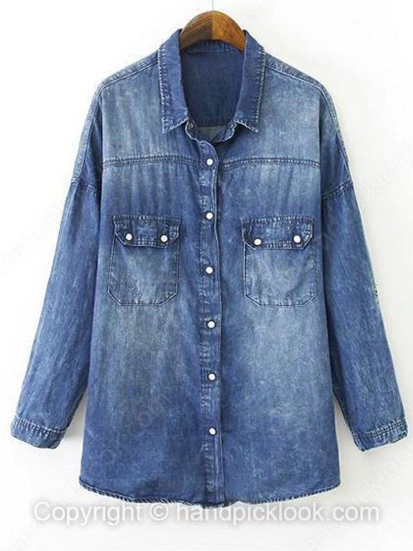 blouse woman blouse denim top denim shirt