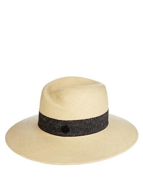 Maison Michel hat straw hat cream