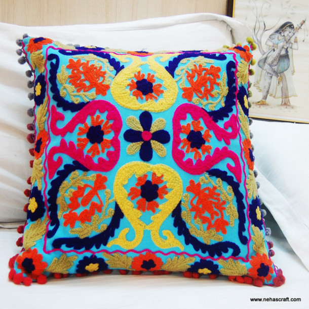 home accessory pillow handmade pillow cases suzani cushion covers turkish cushion cases cotton square pillows home - Home Decor Cushions