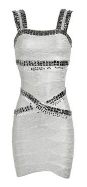 dress,studded dresses,studded bandage dress,hot dresses,bandage dress,white dress,studded dress,white bandage dress,prom dress,bodycon,bodycon dress,hot dress,mini dress,summer dress,club dress,party dress,strapless,purple,asymmetrical,polka dots