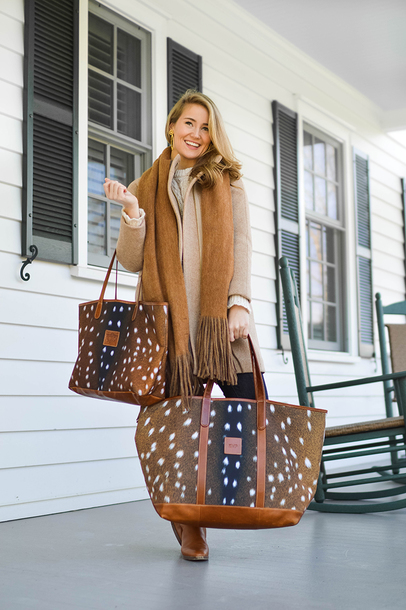 a lonestar state of southern blogger bag scarf coat jewels shoes sweater jeans tote bag beige coat winter outfits boots