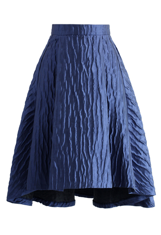skirt full glam embossed waterfall skirt in violet chicwish waterfall skirt embossed skirt violet skirt chic