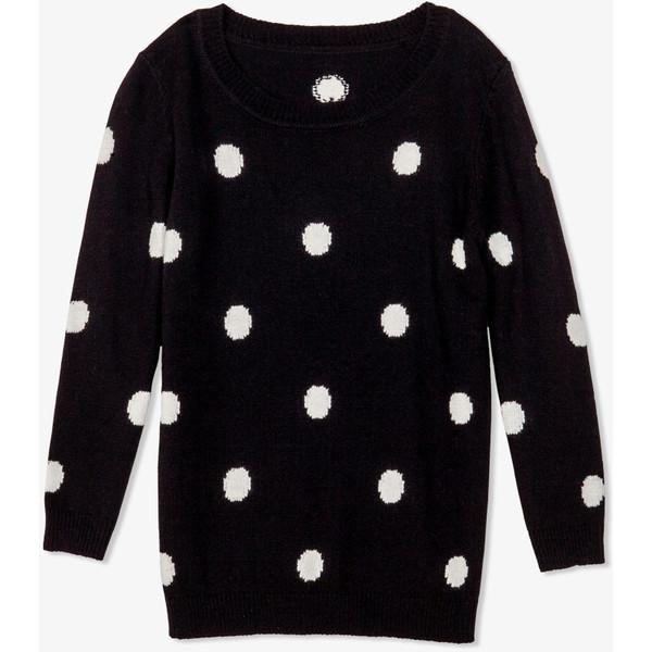 FOREVER 21 Polka Dot Sweater - Polyvore