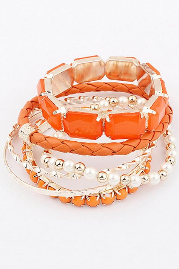 Nice Beaded Bracelet Set - OASAP.com