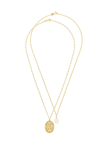 Wouters & Hendrix Gold women pearl necklace gold yellow orange jewels