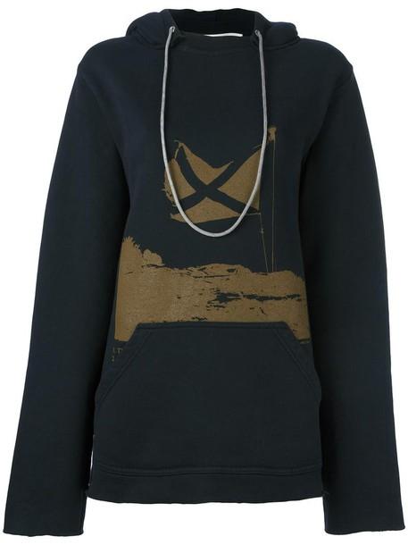 GOLDEN GOOSE DELUXE BRAND hoodie oversized women cotton black sweater
