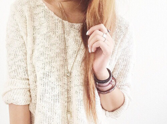 pale white sweater knit knitwear see through holes gorgoeus
