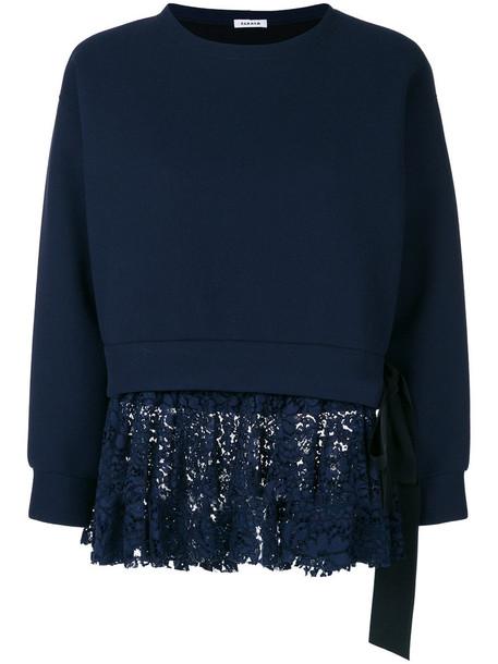P.A.R.O.S.H. sweatshirt women lace blue wool sweater