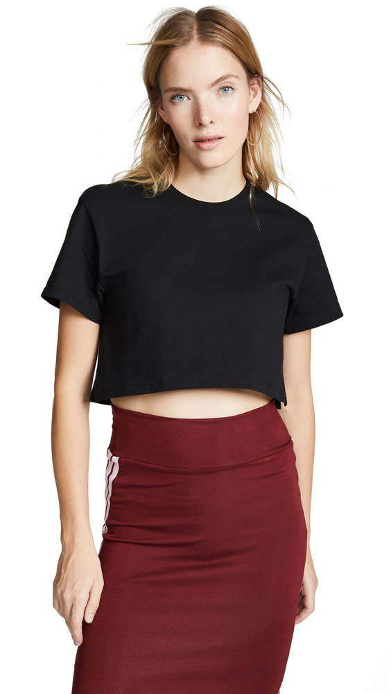 Hanes x Karla The Crop Tee in black