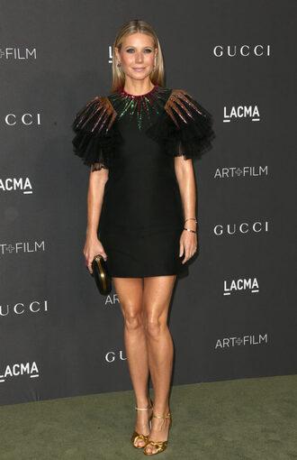 dress sandals gwyneth paltrow mini dress black dress party dress