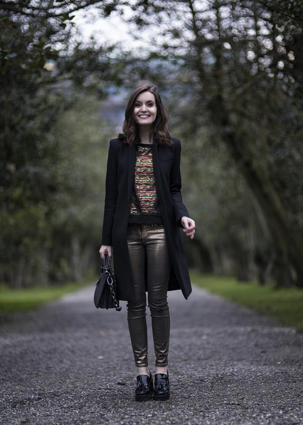 anouska proetta brandon coat t-shirt jeans shoes bag