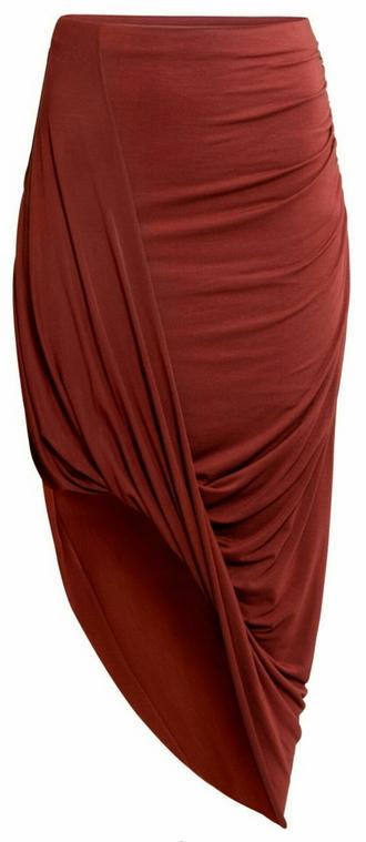 skirt pencil skirt asymmetrical burgundy maxi