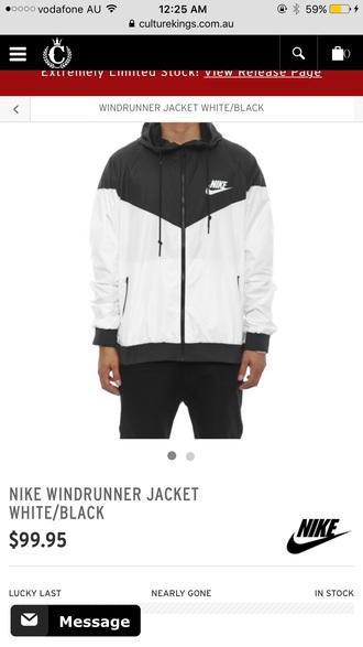 jacket nike jacket white and black nike windbreaker
