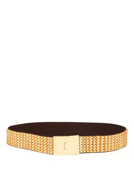 metal belt gold leather