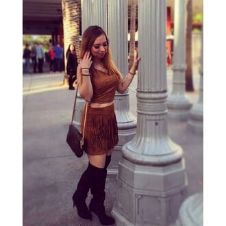 skirt fringe skirt tan fringe skirt western fringes angl clothing shop angl angl