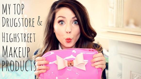 bows bag zoella makeup bag youtuber hot pink ted baker girly