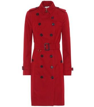 coat trench coat red