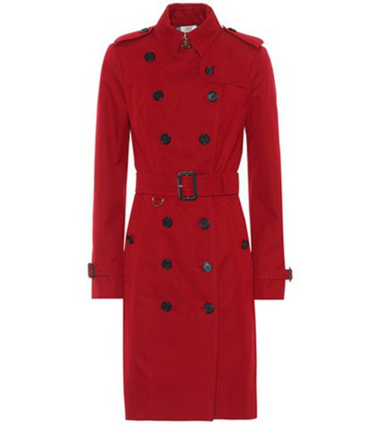 Burberry coat trench coat red