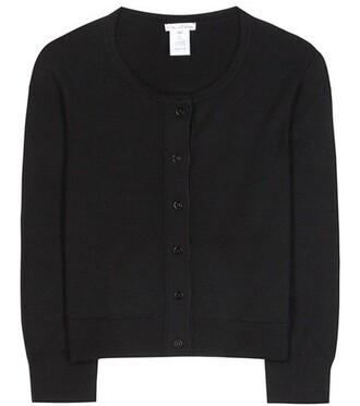 cardigan silk black sweater