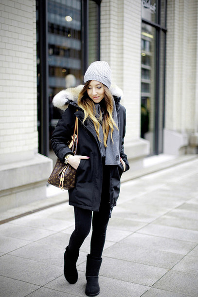 Parka fashion blogger