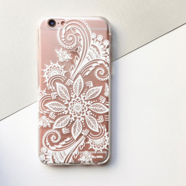 Milkyway Cases CLEAR TPU CASE COVER - WINTER HENNA