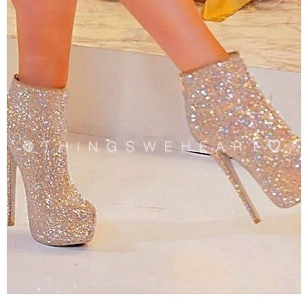 shoes booties high heels bedazzled gold ankle boots