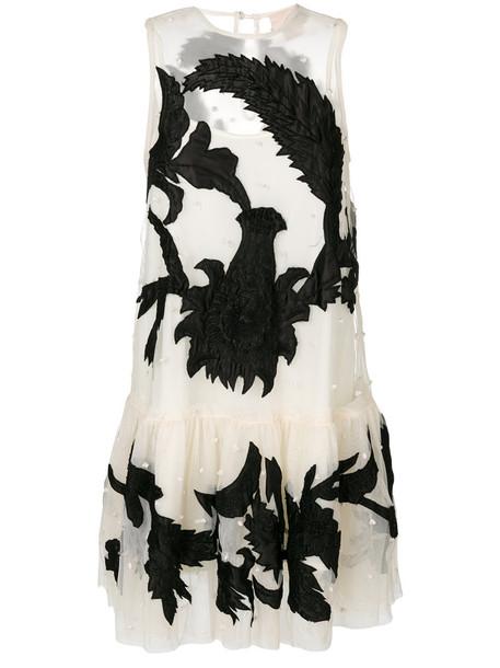 ANIYE BY dress tulle dress sleeveless women beaded white