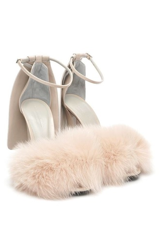 shoes nude fluffy nude heels nude sandals