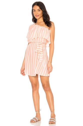 dress one shoulder dress pink