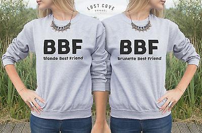 bbf jumper sweater blonde brunette best friend matching. Black Bedroom Furniture Sets. Home Design Ideas